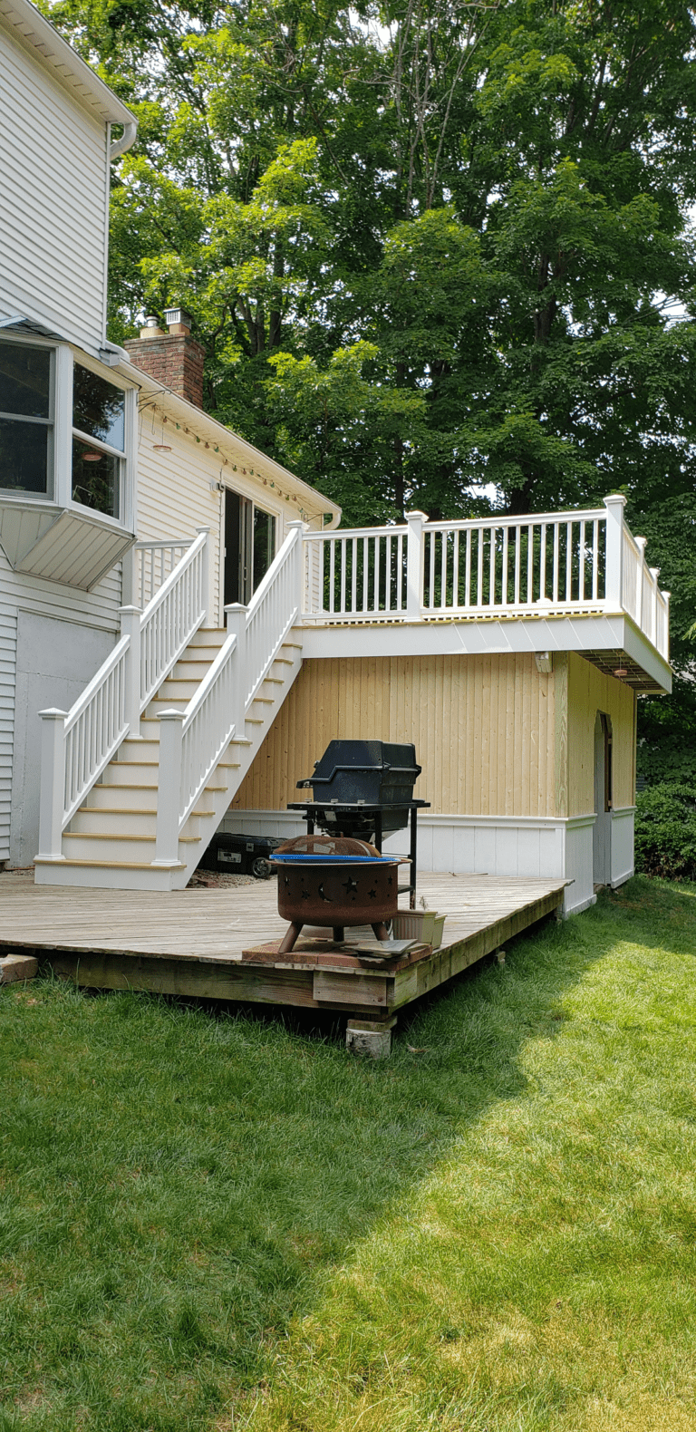 The final result of this beautiful deck remodel in Newtown, Connecticut