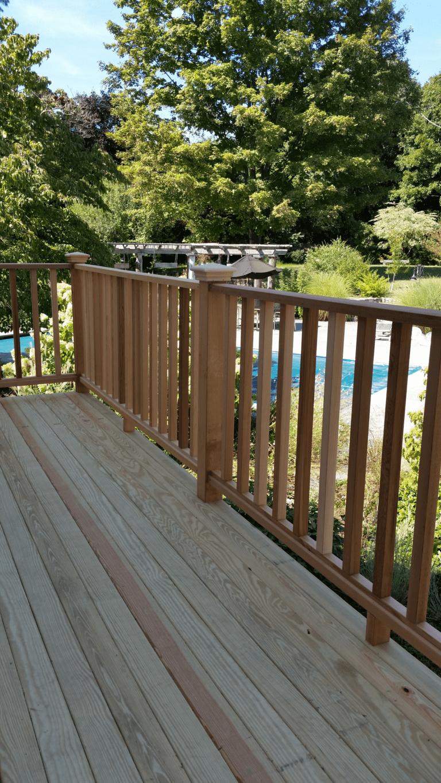 Cedar Deck Construction by Patrick Daignault Remodeling in Wilton, CT 06897