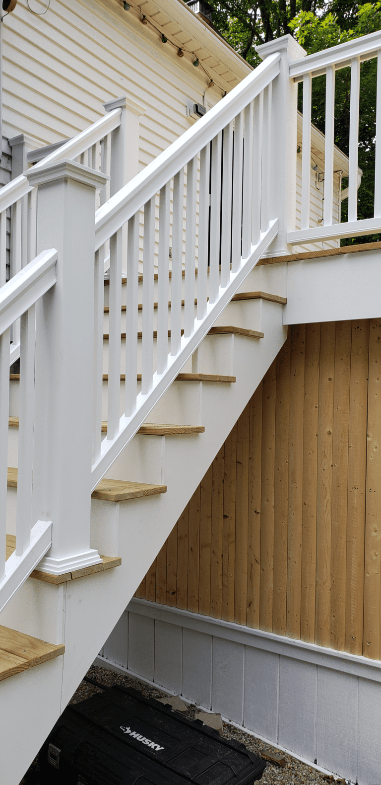 Oudoor Stairs with Composite Railing