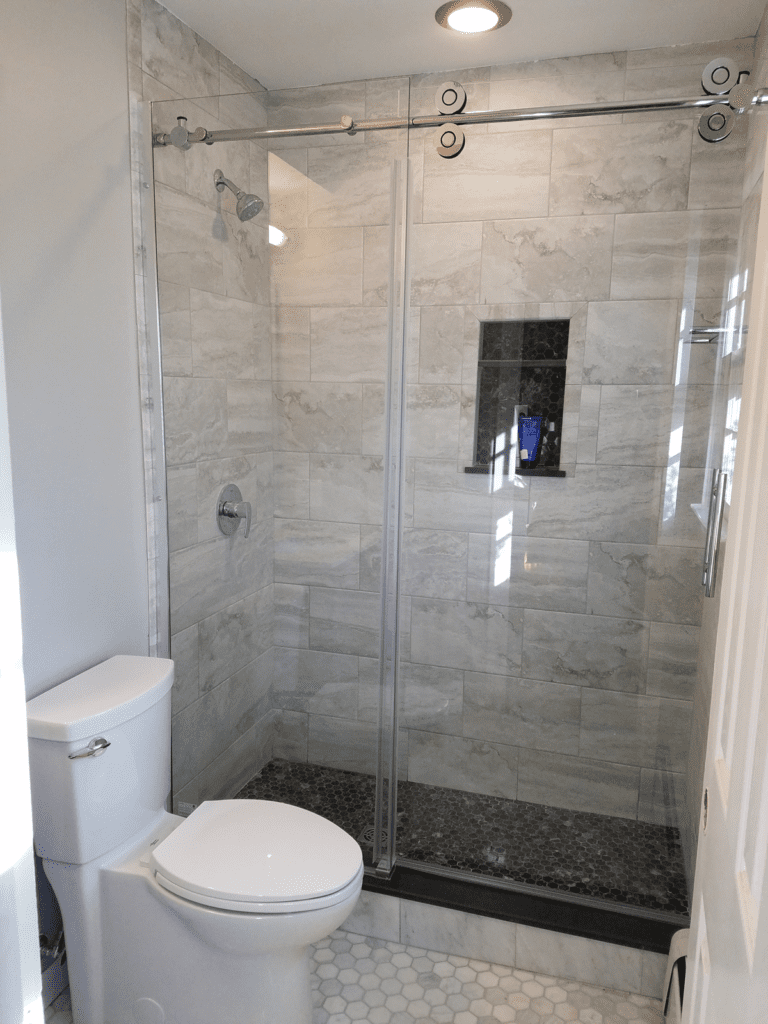 This full bathroom remodel was perfect place for this beautiful walk-in shower.