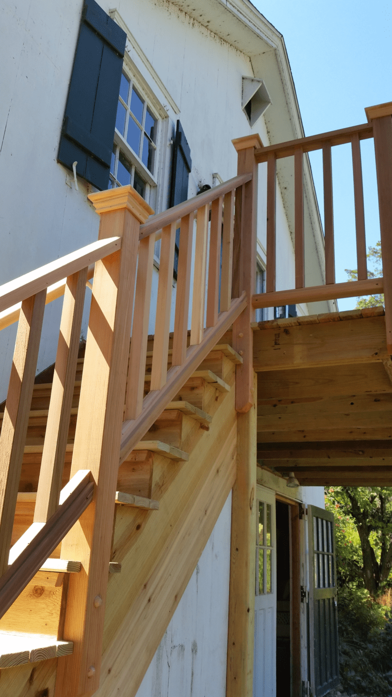 Outdoor Stairs and Deck contructed by PDRemodels in Wilton, CT